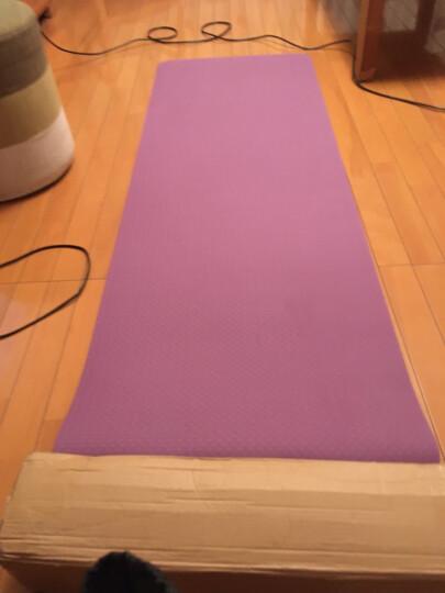 山品良造 瑜伽垫女加厚防滑TPE初学无味健身垫舞蹈运动毯子 清新绿+灰 双层1830*610*6mm 晒单图