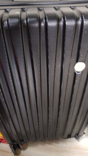 博兿(BOYI)万向轮24英寸拉杆箱时尚轻盈经典条纹行李箱男版商务休闲旅行箱BY-82002黑色 晒单图