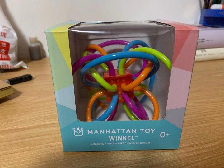 Manhattan Toy曼哈顿球牙胶手抓球 婴儿玩具安抚奶嘴磨牙棒 宝宝咬咬乐 早教摇铃玩具 猫头鹰款 晒单图