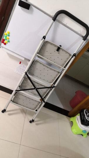稳纳 梯子家用 人字梯 折叠梯多功能四步楼梯5104GA白 晒单图
