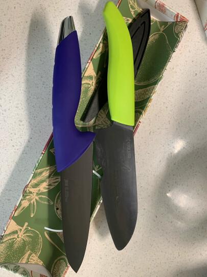 美瓷(MYCERA)6寸黑陶瓷刀具 厨师刀 厨房家用 西瓜刀 瓜果刀(蓝色)N6S-B 晒单图