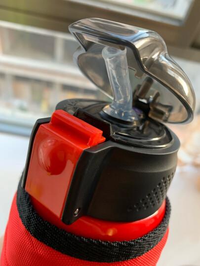 迪士尼(Disney)儿童保温杯保温壶带吸管不锈钢水杯男女学生双盖杯子水壶送杯套 550ML 6002N 米妮粉色 晒单图