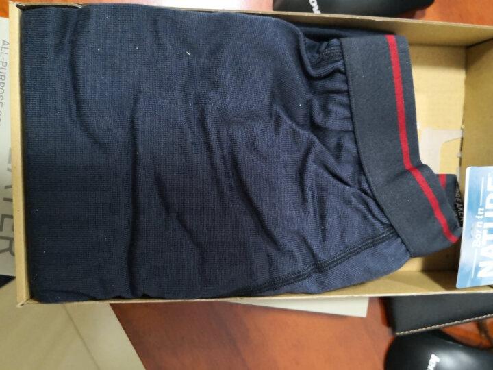 icebreaker美丽诺羊毛男士打底裤260gm运动户外休闲透气亲肤轻质速干长裤 灰色100487002 XL 晒单图