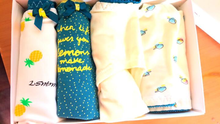 浪莎(LangSha)女士内裤 纯棉裆中腰性感印花女式三角裤头 5条礼盒装165/L 晒单图