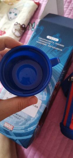 迪士尼(Disney)儿童保温杯带吸管男女学生水杯子304不锈钢水壶红色蜘蛛侠600ml双盖刺绣杯套 晒单图