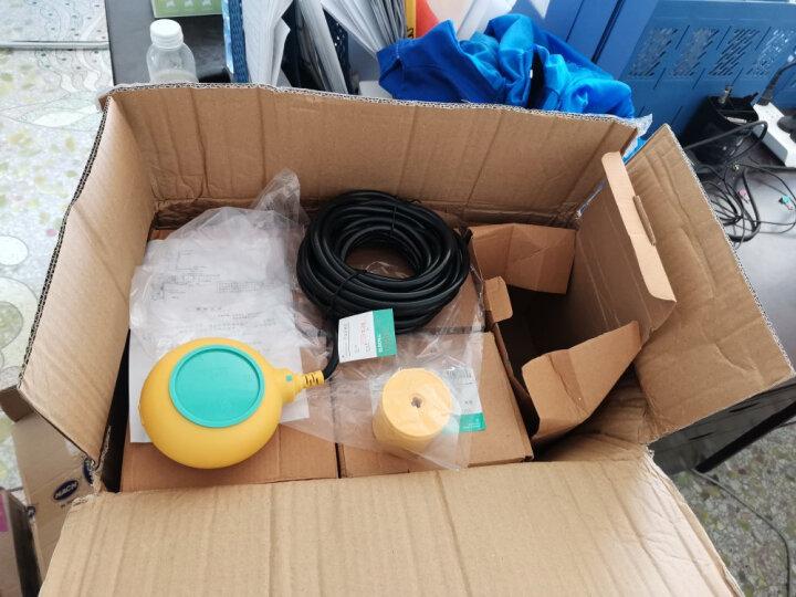 伊莱科 液位控制器 浮球开关 液位开关 水箱水塔水泵自动水位开关 液位继电器 EM15-3 圆形浮球 4米(绿色) 晒单图