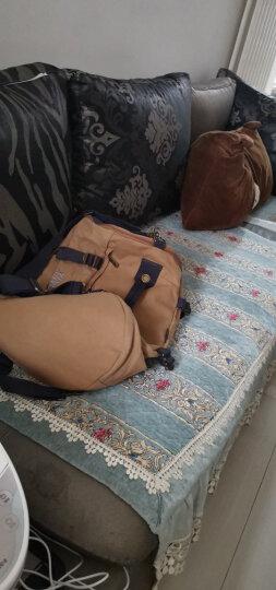 新潮代 旅行包男手提双肩包大容量背包休闲帆布包行李包多功能旅游包圆桶包健身包登山包 蓝黑色(大容量设计) 双肩包 晒单图
