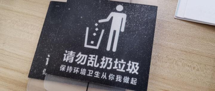 黑色简约时尚双层亚克力温馨提示牌标牌标识牌告示牌警示牌标贴 店内禁止饮食 晒单图
