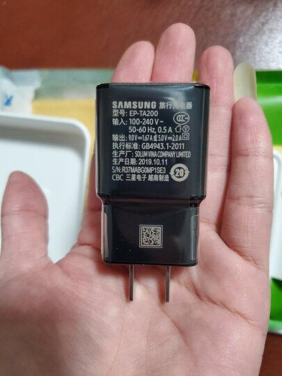 三星(SAMSUNG)原装15W充电器 三星S10+/NOTE9/S8PLUS/A60手机快充头 Type-C数据线插头闪充套装 黑色 晒单图