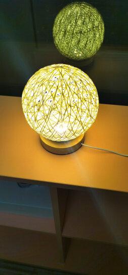 创意浪漫调光麻线LED藤球夜灯台灯宿舍寝室小台灯卧室床头礼物灯 米黄20CM藤球灯(充电款) 调光开关 晒单图