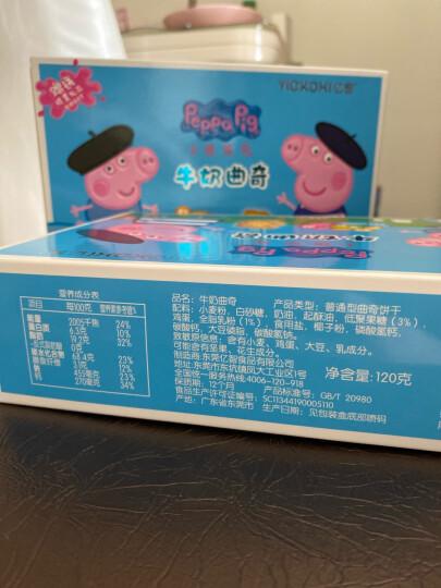 小猪佩奇 Peppa Pig 蔓越莓曲奇饼干 益生元+膳食纤维+钙 儿童代餐小饼干食品 卡通手指早餐饼干盒装120g 晒单图