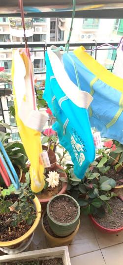 南极人 Nanjiren 儿童内裤 男女童三角平角4条装棉质中大童宝宝内裤青少年学生短裤 纯色印花款160 晒单图