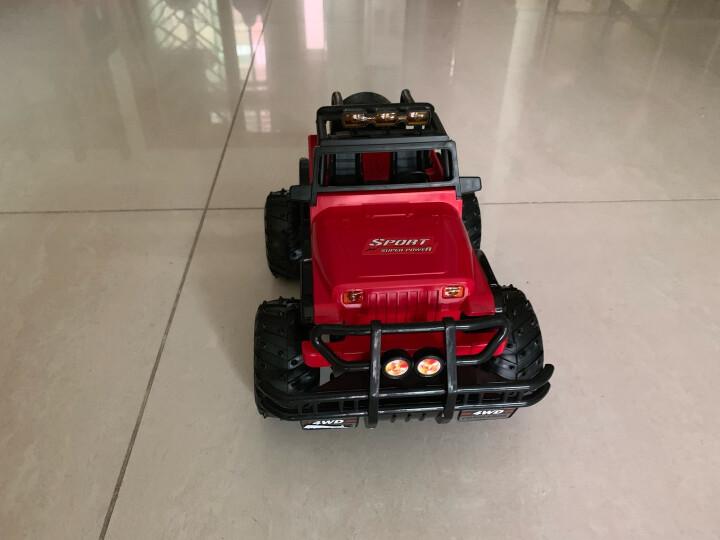 活石儿童玩具 遥控车玩具越野车悍马 攀爬车耐摔漂移充电遥控汽车模型男孩玩具 30厘米一键开门 红 晒单图