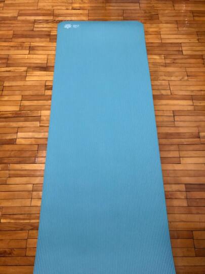 奥义瑜伽垫 家用隔音跳绳垫高密度丁腈橡胶加厚加长男女健身垫 防滑运动垫子 湖蓝(含绑带网包) 晒单图