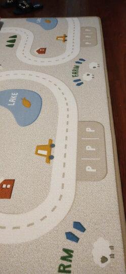 韩国原装进口 帕克伦XPE丝绸爬行垫爬爬垫环保布艺婴儿爬行垫泡沫地垫 梦幻云朵 200x180x1.7cm 晒单图