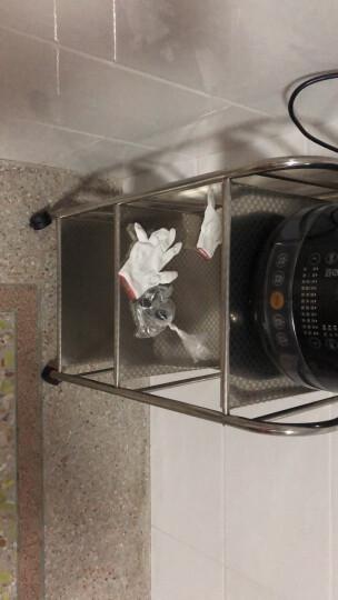 心家宜 厨房置物架 微波炉架子 不锈钢多功能收纳储物架货架 餐车推车层车 加长三层 长60×宽35×高75cm 晒单图