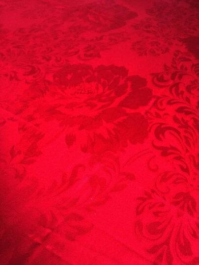 盛宇家纺 高精密婚庆四件套/六件套全棉床单纯棉大红色提花绣花套件结婚床上用 龙飞凤舞-六件套 1.8/2.0米床(被套220*240cm) 晒单图