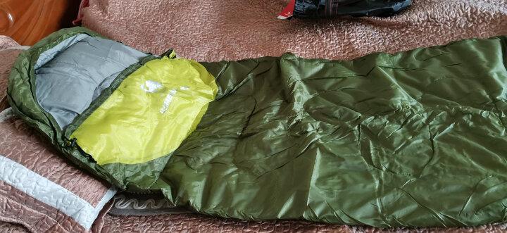 骆驼(CAMEL)户外睡袋 轻盈加厚保暖双人旅行露营室内便携成人睡袋 军绿/果绿1.1kg(左边) 均码 晒单图