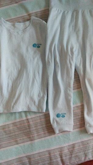 贝贝怡四季婴儿宝宝保暖内衣套装男女宝宝套装春秋服装 米白(前开襟套装) 3个月/身高59cm 晒单图