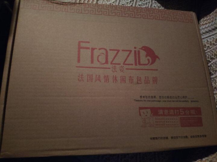 Frazzil法姿 尼龙双肩背包女 休闲通勤小旅行背包 时尚女包书包女士背包防水 2183 星空图/深蓝紫 晒单图