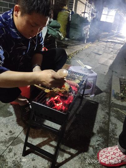 尚烤佳 烧烤炉 烧烤架 烧烤箱 户外便携木炭长条烧烤炉 家用烧烤架 烤箱 晒单图