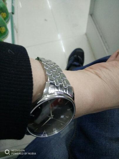 罗西尼(ROSSINI)手表 启迪系列·丝绸腕表 男表 复刻经典商务石英表 钢带男士腕表6355W01G 晒单图