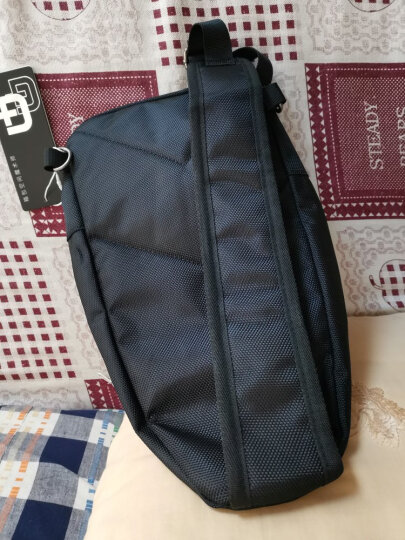 SWISSGEAR胸包 男士商务单肩斜挎包旅行休闲男小包9.7英寸iPad 时尚防泼水运动背腰包SA-9393mini黑色 晒单图