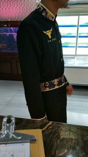 黑色服务员工作服春秋装火锅店西餐厅茶楼服务员长袖酒楼饭店服装 女黑色 XXXL 晒单图