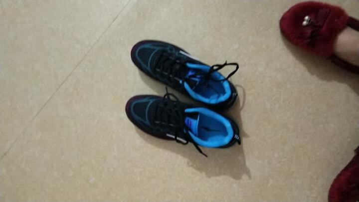 鸿星尔克ERKE跑鞋新款情侣款全掌气垫减震运动慢跑鞋女款52116120028正黑/荧光蓝37码 晒单图