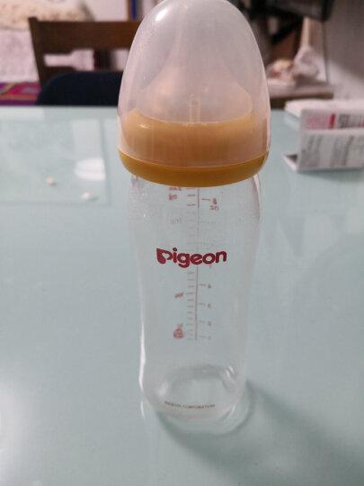 贝亲(Pigeon) 奶瓶 玻璃奶瓶 新生儿 宽口径玻璃奶瓶 婴儿奶瓶 240ml(黄色瓶盖)AA71 自然实感M码奶嘴 晒单图