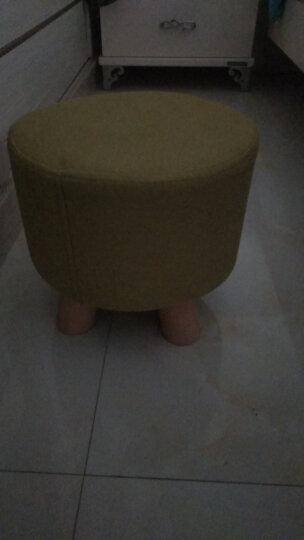家逸 换鞋凳 实木矮凳 创意穿鞋凳 布艺沙发凳 长方形墩子 绿色 晒单图