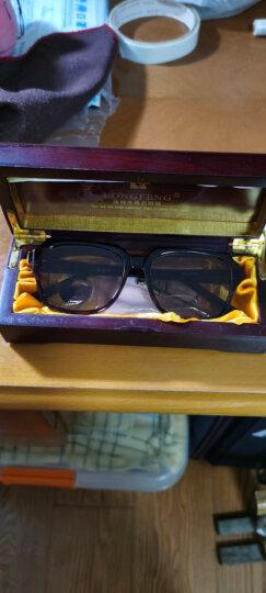 隆峰(Longfeng)水晶眼镜 石头镜 男女款 大框太阳镜 中老年墨镜  遮阳镜 LF3818茶片 晒单图
