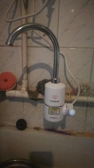 热恋(LoveLink)电热水龙头 冷热 厨卫两用小厨宝 大弯(侧进水)速热即热式电热水器 DF02 晒单图