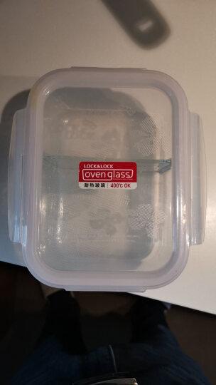 乐扣乐扣 二分隔耐热玻璃保鲜盒大容量微波炉饭盒 冰箱冷冻储物藏盒密封食品水果收纳整理盒便当餐盒子 1.02L 晒单图