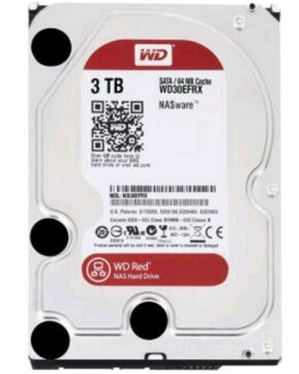 西部数据(WD)红盘3TB NAS网络存储服务器磁盘阵列机械硬盘3t SATA WD30EFAX 晒单图