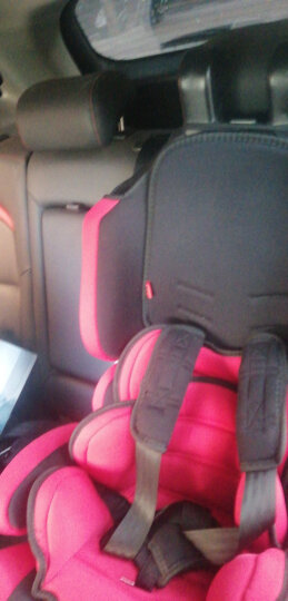 艾宝汽车儿童安全座椅宝宝婴儿车载坐椅ISOFIX接口车用小孩9个月-12岁安全椅增高垫座椅 703A酷红灰+ISOFIX(舒适太空舱) 晒单图