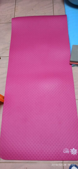 奥义 瑜伽垫 15mm加厚防滑健身垫 185*80cm(赠绑带+网包)加宽加长男女运动垫子 玫红 晒单图