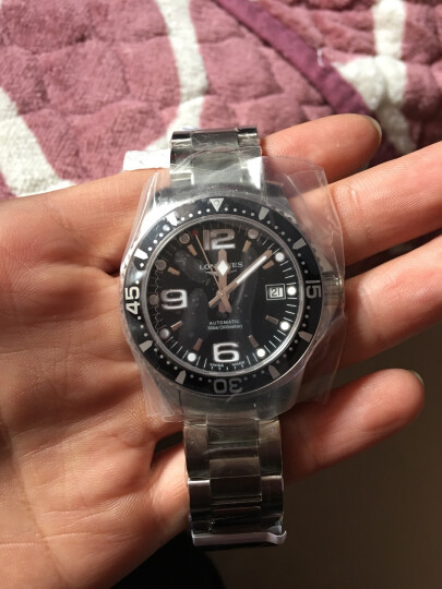 浪琴(Longines)瑞士手表 康卡斯潜水系列 机械钢带男表 L37414566 晒单图