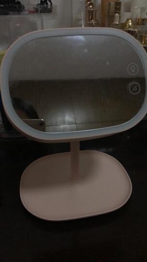 MUID创意led化妆镜台灯高清可充电带灯镜子情人节礼物送女友生日礼物送女生 白色 晒单图