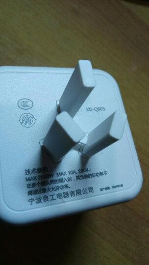 良工(lengon)一转四插座转换器魔方电源插座插排插线板 多功能立式总控无线新国标 XD-Q604绿色 晒单图