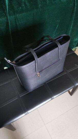 稻草人(MEXICAN)欧美时尚经典女士手提包拼接手拎包包大包斜挎大容量妈咪袋MYH70452L-01黑色 晒单图