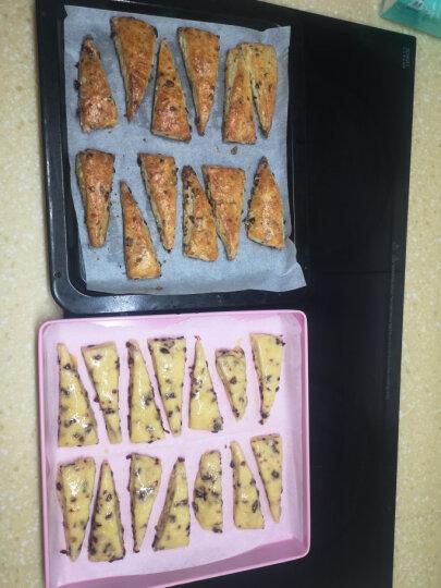 阳晨烘焙工具 正方形烤盘 蛋糕卷 饼干鸡翅面包多用烤盘 不粘烘焙模具烤箱烤盘樱花粉色 晒单图