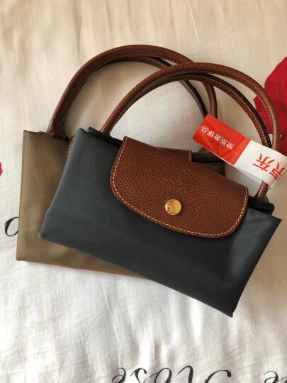 珑骧 LONGCHAMP 女士LE PLIAGE系列织物短柄可折叠手提包饺子包蓝色小号 1621 089 556 晒单图