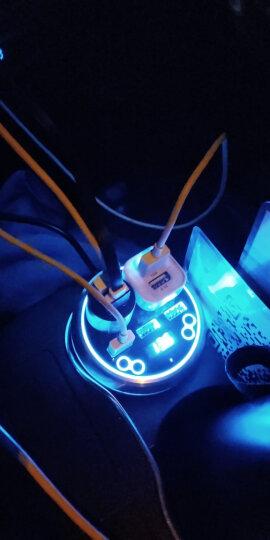 爱兰(ACCNIC) 杯式车载蓝牙mp3汽车蓝牙播放器音乐播放器一拖二汽车点烟器usb手机多功能充电 爱兰c1蓝+遥控器 晒单图