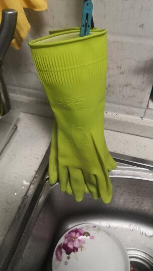 克林莱韩国进口手套 彩色橡胶手套 清洁手套 家务手套 洗碗手套 小号CR-8 晒单图