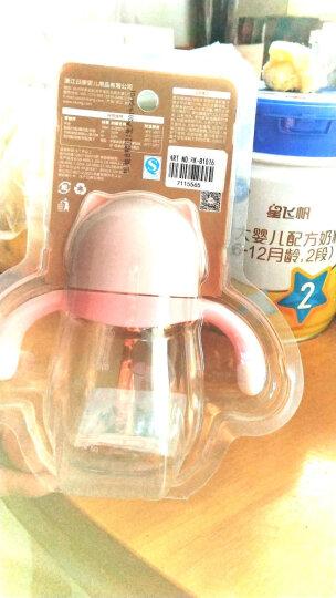 日康(rikang) 水杯 儿童吸管杯宝宝水杯 婴儿学饮杯带重力球防漏 (粉)250ml RK-B1026 晒单图