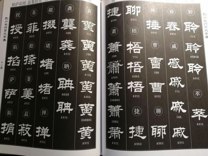 刘炳森隶书大字典 晒单图