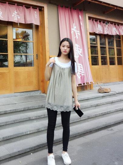 婧麒(JOYNCLEON)孕妇防辐射服孕妇装银纤维吊带隐蔽内穿衣服四季款 灰白色 L 晒单图