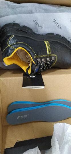 固邦特劳保鞋男士夏季透气防砸防刺穿安全鞋钢包头工作鞋 PU注塑底 40 晒单图