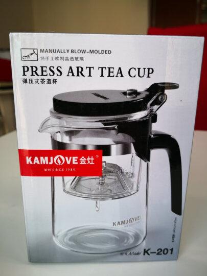 金灶(KAMJOVE) 玻璃茶壶 茶水分离飘逸杯泡茶壶 可过滤花茶壶茶道杯耐热玻璃茶具泡茶杯泡茶器 K-204/600毫升 晒单图